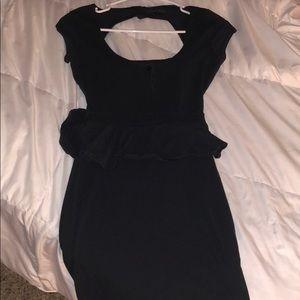 Preplum Vans waist hugging backless dress